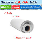49 Rolls 100gsm 3 Core 44 X 328andacute Dye Sublimation Paper Heat Transfer Printing
