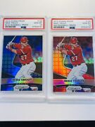 2015 Panini Prizm Baseball Red And Blue Mike Trout Psa 10 💎 Ssp Htf Rare