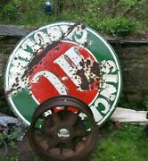 Large Antique Tractor Wheel Metal Spoke Country Americana Decor
