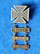 Original Us Army Shooting Badge. Medal For Excelent Shooting With Rifle E1
