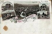 Bosnia - Sarajevo - Very Rare Old Lithograph Post Card From 28 May 1898 Z