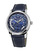 Frederique Constant Fc-718nwm4h6 World Timer Automatic 42mm Leather Menand039s Watch