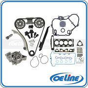 Timing Chain Cover Kit Andwater Pump Head Gasket Bolt Set For 07-08 Chevy Hhr 2.2l
