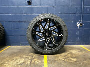 22x12 Vision Spyder 33 Mt Wheels Tires Package 6x5.5 Chevy Silveardo 1500 Tpms