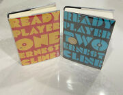 Ready Player One And Two Ernest Cline Signed Hardcover Book First Ed 1st Print