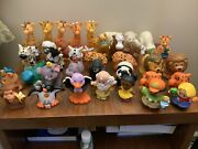 Mixed Lot Of 39 Fisher Price Little People Figures Boy Girl Farm Animals Parts
