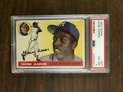 Hank Aaron 1955 Topps Psa 4 Centered Beauty/rcandrsquos Out Of Reach Grab This One