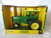 Ertl 1/16 Scale Diecast John Deere 4020 Narrow Front End And Cab Farm Toy Tractor