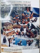 2001 Victorian Village Lighted Hand Painted Christmas Set Brand New