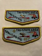 Thal-coo-zyo Oa Lodge 457 Lot Of 2 Flaps Www Tri-state Area Order Of The Arrow