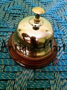 Brass Table And Desk Bell Antique Finish Finish Hotel Reception Call Ring Bells