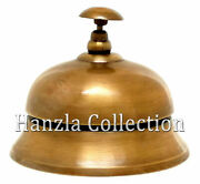 Brass Table And Desk Bell Antique Finish Finish Hotel Reception Call Ring Bells 4