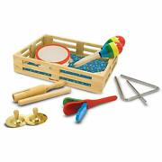 Melissa And Doug Band In A Box 10 Piece Wooden Musical Instruments Playset