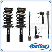 2x Front Strut Coil Spring W/ Inner Outer Tie Rod End For 04-11 Chevrolet Impala