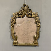 Antique Mirror Louis Xv Carved Wood And Mecca