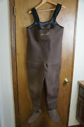 Simms Men's Neoprene Chest High Footed Fisherman Hunter Water Waders Size M
