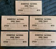 Rare 1970and039s 1980and039s Bonneville National Speed Trials Timing Slip Lot Scta Hot Rod
