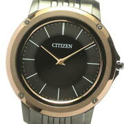 Citizen Eco Drive One Ar5054-51e Black Dial Solar Powered Menand039s Watch_603367