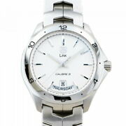 Tag Heuer Link Wat2011 Day Date Calibre 5 Automatic Menand039s Watch Silver Ex++ Rare