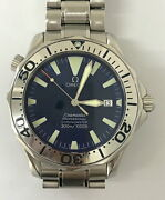 Omega Seamaster 300m 2255.80 Date Blue Dial Automatic Menand039s Watch Ex++