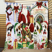 Personalized Pet Lovers Christmas Jack Russell Dogs House Gathering Quilt