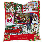 Personalized Christmas Love Is Being Owned Jack Russell Terrier Dogs Quilt