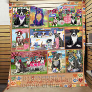Personalized Love Is Being Owned American Staffordshire Terrier Dog Quilt