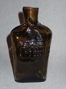 Signed And Numbered Art Glass Flask Bottle Mold Blown W/ Pontil C. Salmn 21 / 100