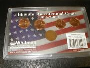 2009-d- 4 Coin Lincoln Bicentennial With 1909-p Wheat Penny