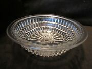 Imperial Glass Clear 9andrdquo Salad Bowl Monticello Waffle Block 1930andrsquos Line 698