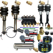 Air Suspension Kit-complete Struts Front And Rear Air Ride Dual Dc480 5 Gal Ss
