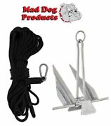Black 150and039 X 1/2 Anchor Line And Slip Ring Anchor Pack - 5 Lb. Steel Anchor