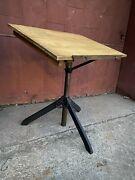 1930s Drafting Table Cast Iron Industrial Office Desk Art Easel Collapsible