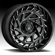 Gear Off Road 755bm End Game Gloss Black Milled 24x12 8x6.5 -44mm