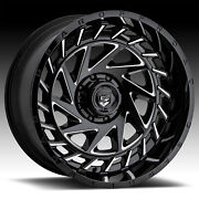 Gear Off Road 755bm End Game Gloss Black Milled 24x12 8x170 -44mm