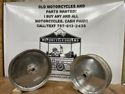 Vintage 19andrdquo Front And 17andrdquo Rear Solid Wheels For Harley Davidson