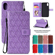 Leather Wallet Case For Iphone 12 Pro Max X Xs Xr 11 8 7 6s Magnetic Flip Cover