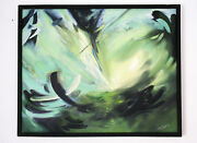 Wind Abstract Original Oil Picture Canvas Authorand039s Technique Limited Quantity 1