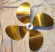 Hall And Stavert Hytorq 23 X 24 Left Hand 4 Blade Nibral Inboard Propeller