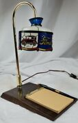 Vintage Coca-cola Desk Lamp/desk Note Holder Rare Ford Cars And Unused Note Pad