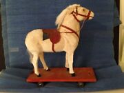 Antique German Pull Horse Toy