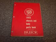 1965 Buick Special Skylark Lesabre Riviera Chassis And Body Parts Catalog Manual