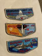 Amangamek Wipit Lodge 470 Lot Of 3 Flaps Including 1977 25th Order Of The Arrow