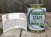 Rare Vintage 1982 Quaker State Motor Oil Can The Last To Be Made Congo 475 W Coa