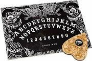 Black Ouija Board Game For Spirit Hunt With Planchette And Detailed Instruction.