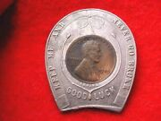 1929 Jackand039s Menand039s Shop Buffalo Ny Encased Lincoln Cent 27