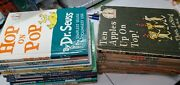 Lot Of 25 Canvas-hardcover Dr. Seuss Bright And Early Cat In The Hat Books