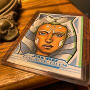 Topps Star Wars Galactic Files Ahsoka Tano 1/1 Sketch Card Tom Amici Color