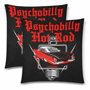 Psychobilly Hotrod Throw Pillow Cover 18x 18 Twin Sides Set Of 2