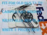 Fit For Old Bus T1 T2 Camper Bay Window Westfalia Mud Flaps White 2 Pieces New❗
